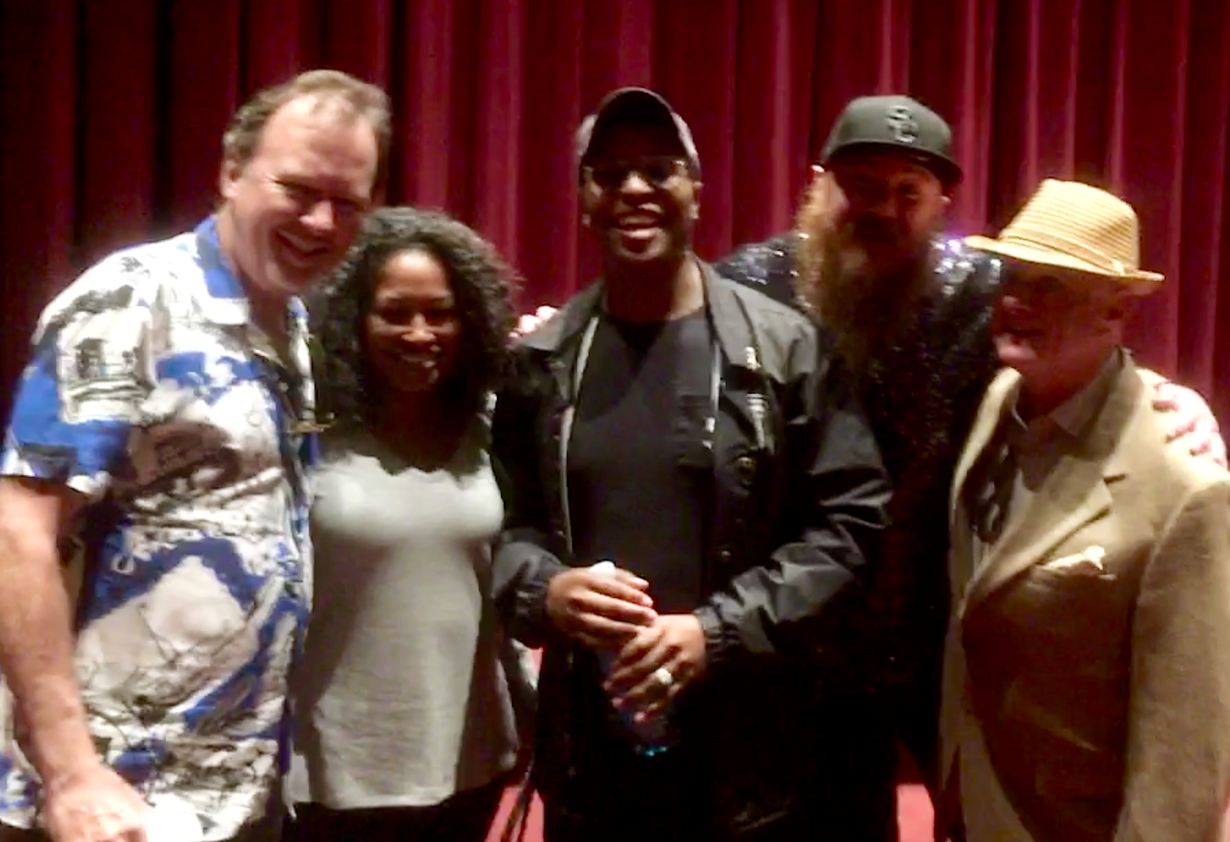 Dusty Trice with the cast and crew of BEAUREGARD at the USC premiere in 2019.
